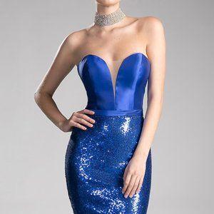 Sweetheart Sequin Long Prom Royal Dress CDJS0407